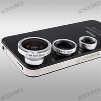 New Arrival Wholesale 10sets/lot 1set Magnetic 3 in 1 Wide Angle Macro lens 180 Fish Eye Camera Kit Set for Android Mobile phone