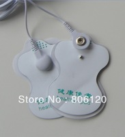 30pcs/lot good quality white Electrode Pads + 1pc 2 way wire for Tens Acupuncture,Digital Therapy Machine Massager