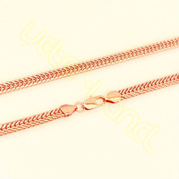 Wholesale&Retail Fashion Jewelry Men's Boy's 6MM  61.3CM Super Cool Rose Gold Filled Necklace Dense Link Chain MX26