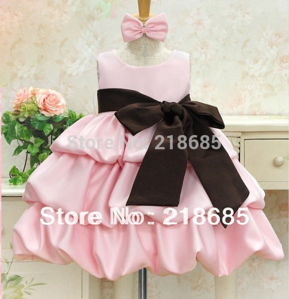 Hot Retail High quality Girl's princess dress Vertical tiered baby girl's summer dress 2013 Kid's wear Size 90-130 Free shipping(China (Mainland))
