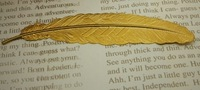 China wholesale lead free raw brass large feather for jewelry making, brooch, stamping