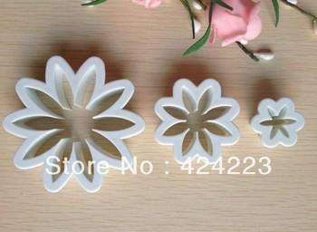 Free  shipping  3PCS Daisy shape mold sugar Arts set Fondant Cake tools/cookie cutters
