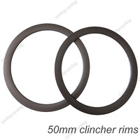 FREE SHIPPING 50mm clincher carbon road bike rim,carbon bicycle rims