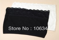 Free Shipping Spring and summer all-match basic lace decoration modal ladies' camisoles Wrapped chest  Underwear 5 PCS/Lot