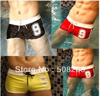 Hot Sell New Fashion Men's Swimwear Trunks Number 9 Letter Printed Boxer Shorts Good Quality M L XL XXL Size MS04