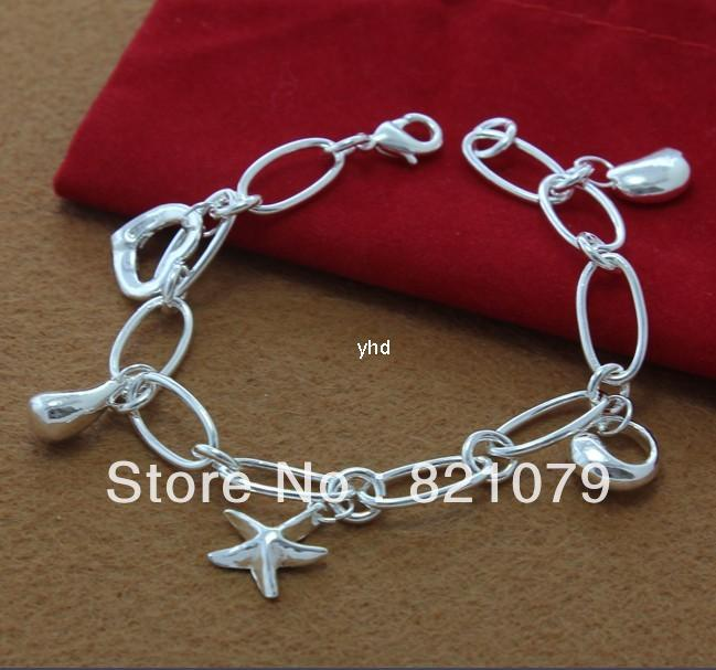 HOT!Loss leader promotions 925 Silver fashion jewelry Silver bracelet TH001 Free Shipping(China (Mainland))
