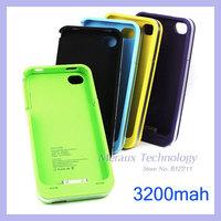High capacity 3200mah external backup battery for iphone 4g 4s