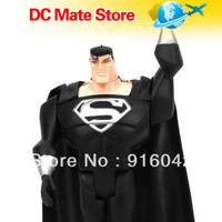 Children's Day Toys DC Universe Justice League Unlimited Black Super Man 4.5 inches Loose Action Figure Fan Collection Free Ship