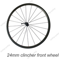 FREE SHIPPING 24mm clincher bike front wheel 700c Carbon fiber road Racing bicycle wheel,single wheel
