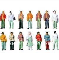 100pcs  scale 1/150 color model plastic figure model humans