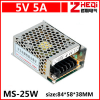 Mini 25W switching power supply, monitor power 5V5A DC power supply, AC86 ~ 240 rpm DC5V