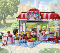 Free Shipping building blocks friends L3061 City Park Cafe, girls toys educational toys.