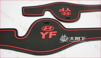 Fit For Hyundai Sonata YF Latex Car Mats High Quality Anti Slip Pad Black Color 2pcs