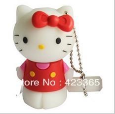 Free shipping, MINI USB flash drive/disk/memory,cute kitty cat best quality, lower price, 2GB, 4GB, 8GB,16GB,32GB, IN Stock!!!
