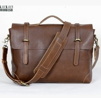 Free shipping! Genuine Leather vintage handbag; Men's fashion cowhide briefcase