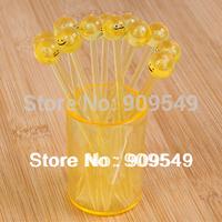 Free shipping wholesale creative fashion expression fruit fork (1 set = 12pcs)