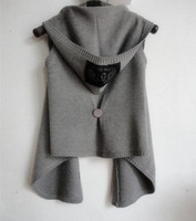 2013 spring fashion  Sleeveless vest loose vest cardigan sweater  women's outerwear waistcoat