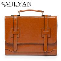 Smilyan 2014 fashion genuine leather women handbags vintage leather women messenger bags women shoulder bags briefcase bolsas