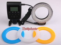 Free shipping +Aputure HL-48 48pcs Macro LED Ring Flash Light for Canon 650D 600D 7D 6D 5D III