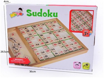 Free Shipping!Baby Toys  Wooden Sudoku Puzzle with Wooden Number Educational Board GameToys