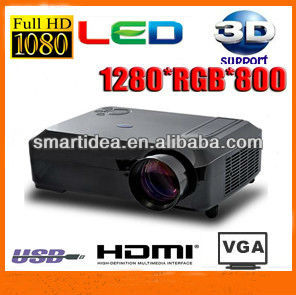 1080P full HD led lcd projector,2800lumens home theater proyector digital projektor,free shipping !(China (Mainland))