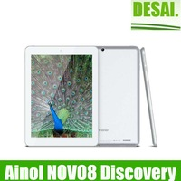 New arrival 8inch Ainol NOVO8 Discovery /Find Quad Core Tablet PC Android 4.1 Jelly Bean 2GB RAM 16GB ROM Dual Camera Bluetooth