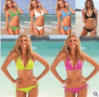 Free Shipping  Sexy Women  Ladies Super Sexy Bikini sets Swimsuit Beachwear Swimwear With Pad Free Size