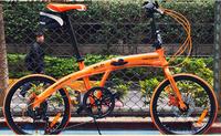 Fast  Free Shipping High carbon  steel  Hachiko  20'' folding bicycle small wheel bike