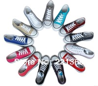 Wholesale Free shipping 2014 design the trend of lovers canvas shoes female skateboarding shoes low 35-44
