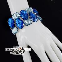 2013 Hot wholesale shining acrylic stone street style Stretch Bracelet for female gift