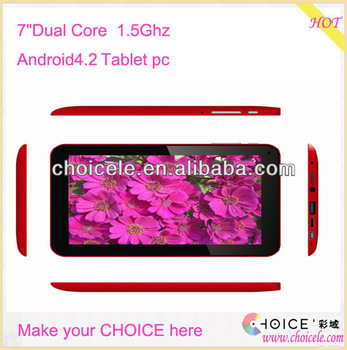"7"" Android4.2 tablet PC 7 inch android tablet pc android 4.2 download android market"