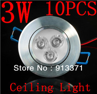 Free shipping 3*1W led ceiling light AC85-265V cool white/warm white,CE&ROHS 3w Indoor lamp,White shell,High quality aluminum