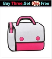 Free Shipping 2013 popular woman man Comic cartoon 3D vivid Shoulder Bag HandBag carry in space cartoon bag