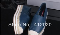 Fashion women's buttermilk skin espadrilles round toe platform flat shoes casual shoes women's single shoes