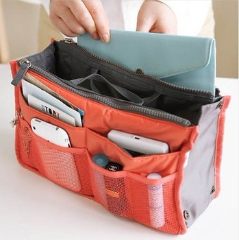 Amazing Travel Storage Bags Insert Handbag Purse Large liner Organizer Bag  28.5X 18.6 X 8.5 (CM) free shipping