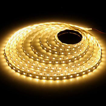 5M 3528 DD01-N 60 LED Strip DC12V 20W Red/Yellow/Blue/Green/White/Warm White Non-Waterproof Strip
