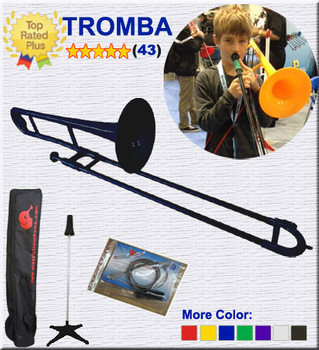 New! Plastic Trombone -BLACK