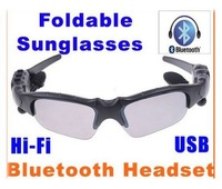 Hot Sale HIFI Bluetooth Headset Sunglasses for Cell phone Wireless Earphone Headphone Bluetooth Sunglasses Free Shipping