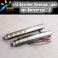 2 pcs/set New hot!!! Factory sale 8 LEDs Car led DRL lights/LED lights/LED daytime running light