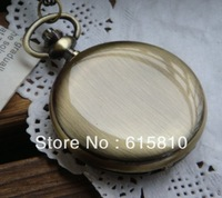 (WA320) Glossy Polish Finish Bright Bronze Quartz Pocket Watch With Arabic Numerals Hot Sale,Wholesale,Necklace New Fashionable