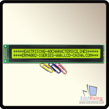 Free Shipping,2pcs/lot,4002 40x2 Character LCD Module Display,LCM,Equivalent with HD44780,Black on Yellow Green Color,STN LCD(China (Mainland))