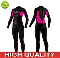 3mm Womens Full Neoprene Wetsuit for Diving/ 90%neoprene+10%nylon/High quality diving suit/keep warm