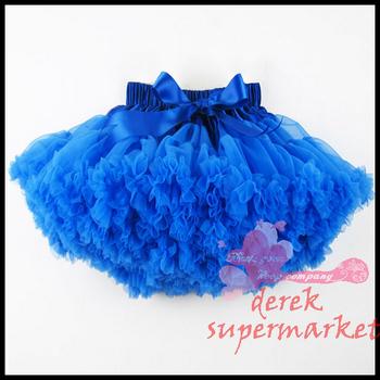 Baby kids solid color girls fluffy dance wear pettiskirts cute chiffon tutu princess skirts Free shipping