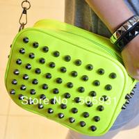 2013 preppy style handbag messenger bag rivet punk trend small bag female bags