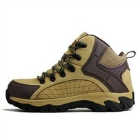 Brand:Merrto Leather Men Leather Hiking shoes Model:18023 EUR Size:39-44 Color;Khaki/Dark Brown/Yellow