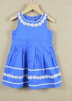 Retail 2013 Free Shipping Kids Children's Clothing sunflower tutu Dresses Babys Vest Dress Beautiful Little Girls Princess Dress