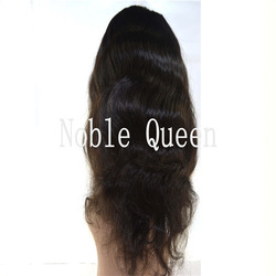 Factory Outlet Price High Density Sexy Body Wave 20inch Noble Queen Virgin Remy Human Hair Full Lace Wigs(China (Mainland))