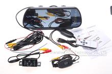 7 inch TFT Color Mirror LCD Car Rearview Screen Monitor + Waterproof 6 LED IR Night Vision Wireless Rear Backup Camera(China (Mainland))