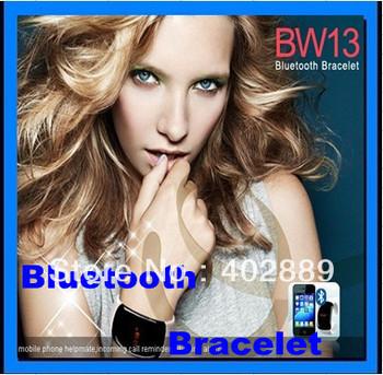10pcs/lot Fashion Bluetooth Bracelet Vibrating lcd Caller ID Alert Anti-loss Digital timer free shipping