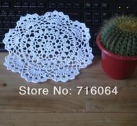 20pcs/lot Crocheted Doilies  Shabby Chic Vintage Look White Ecru Black Pink